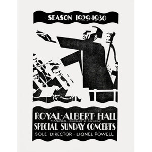 Programme for Special Sunday Concerts - Season 1929-1930, 5 January 1930 - Royal Albert Hall