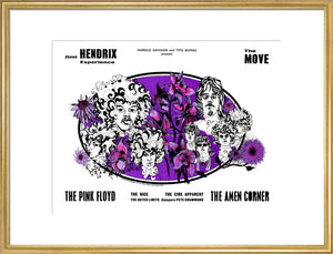 Jimi Hendrix Experience, The Move, The Pink Floyd, The Amen Corner and The Nice Art Print