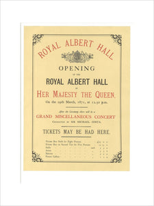 Opening of the Royal Albert Hall Art Print