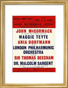 Grand Concert, in aid of the Safer Motherhood Appeal Art Print