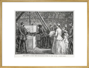Close Up of Queen Victoria Laying the Hall's Foundation Stone Art Print