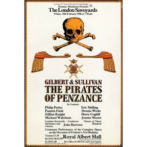 Handbill from The London Savoyards - Gilbert & Sullivan's 'The Pirates of Penzance', 29 February 1980 - Royal Albert Hall