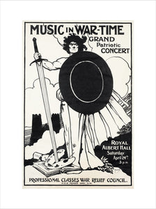 Grand Patriotic Concert, in aid of the Professional Classes War Relief Council and Recruiting Art Print