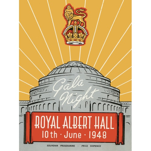 Programme for War Office Staff Gala Night, 10 June 1948 - Royal Albert Hall