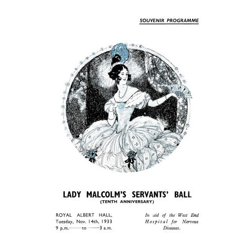Programme for Lady Malcolm's Servants' Ball (Tenth Anniversary), 14 November 1933 - Royal Albert Hall