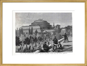 Exterior of the Royal Albert Hall from the Royal Horticultural Society Gardens Art Print