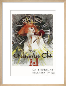 The Chelsea Arts Club Annual Ball 'Long Ago' Art Print