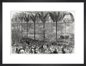 Queen Victoria laying the Hall's Foundation Stone Art Print