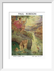 Paul Robeson Concert Art Print