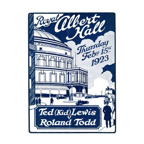 Programme for Boxing Contest - Ted 'Kid' Lewis v Roland Todd, 15 February 1923 - Royal Albert Hall