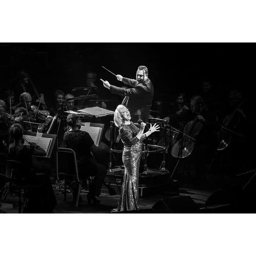 Elaine Paige, 2014, Black and White On Stage Photo Print