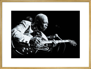 B.B. King, 2011, Black and White Close Up
