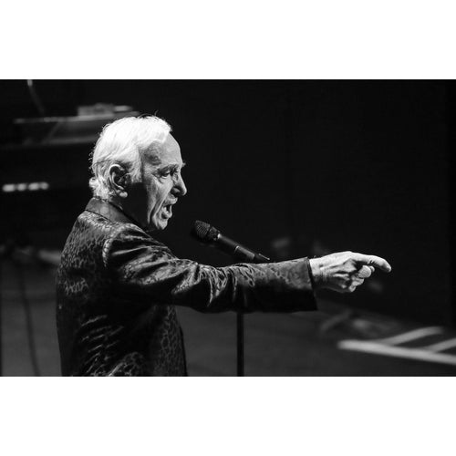 Charles Aznavour, 2013, Black and White Close Up Photo Print