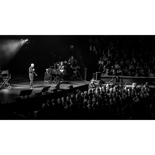 Charles Aznavour, 2015, Black and White Audience View Photo Print