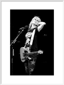 Chrissie Hynde from The Pretenders, 2017, Black and White Close Up Photo Print