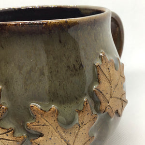 Fall leaves mug    10-12oz