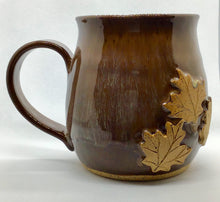 Load image into Gallery viewer, Large Brown Fall Leaves Mug