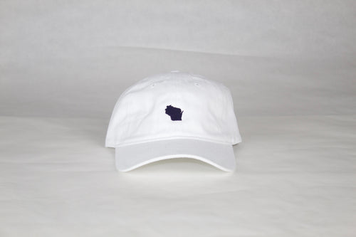 White / Navy Wisconsin Hat
