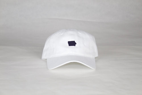 White / Navy Iowa Hat