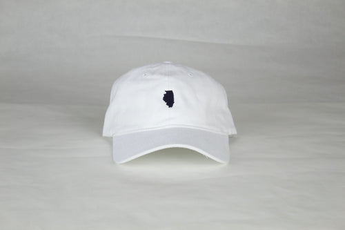 White Illinois Hat