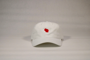 White / Red Wisconsin Hat