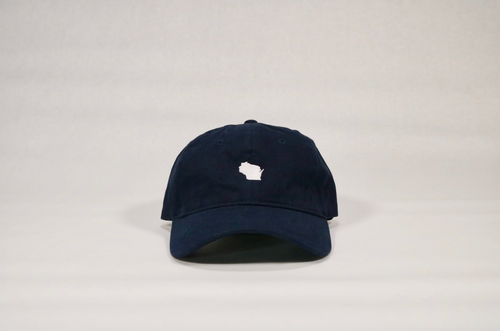 Navy Wisconsin Hat