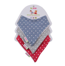 Load image into Gallery viewer, Bandana bib trio - blue stars
