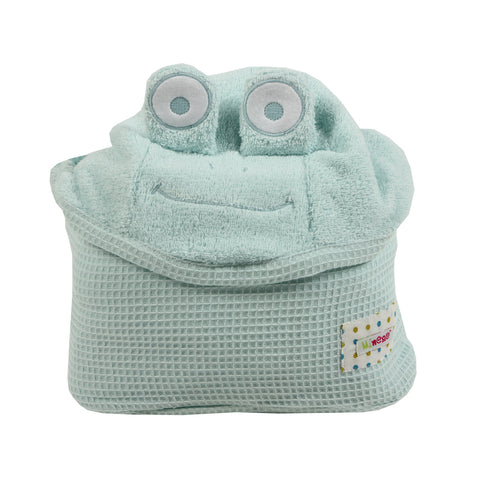 Cuddly Towel - mint frog