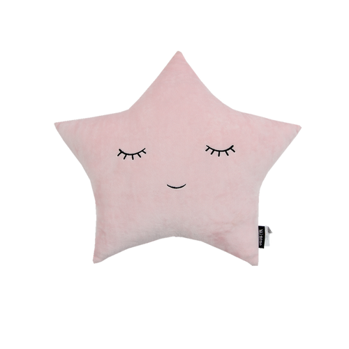 Velvet Pillow - Pink Star