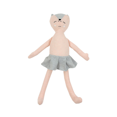 Soft Jersey Doll - Light Pink Kitty Cat