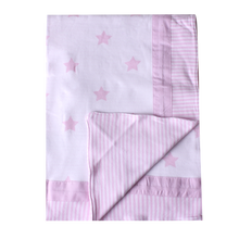 Load image into Gallery viewer, Large Reversible Summer Blanket - shiny star pink