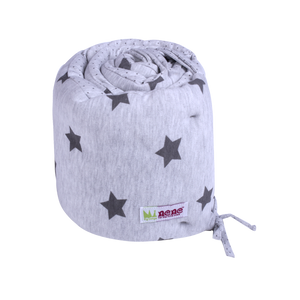 Bassinet Bumper - shiny star grey