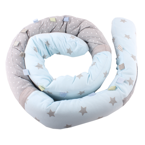 Snuggly Snake - shiny star light blue