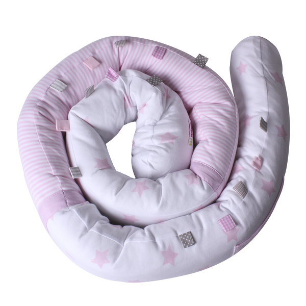 Snuggly Snake - shiny star pink