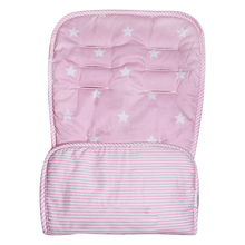 Load image into Gallery viewer, Reversible Pram Liner - pink stars