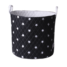 Load image into Gallery viewer, Large storage basket - shiny star black