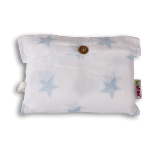 Mi Supersize Muslin Blanket - Light Blue Stars
