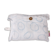 Load image into Gallery viewer, Mi Supersize Muslin Blanket - Light Blue Circles