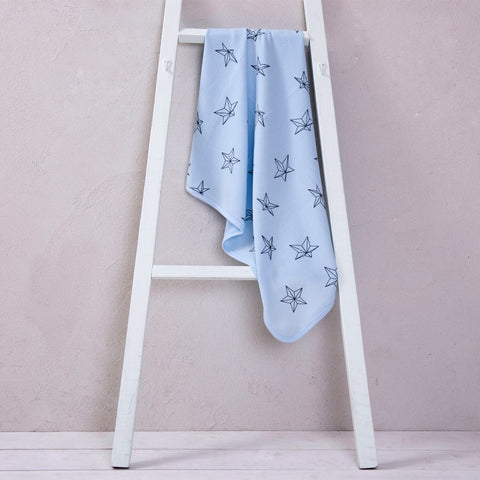 Big waffle summer blanket - light blue