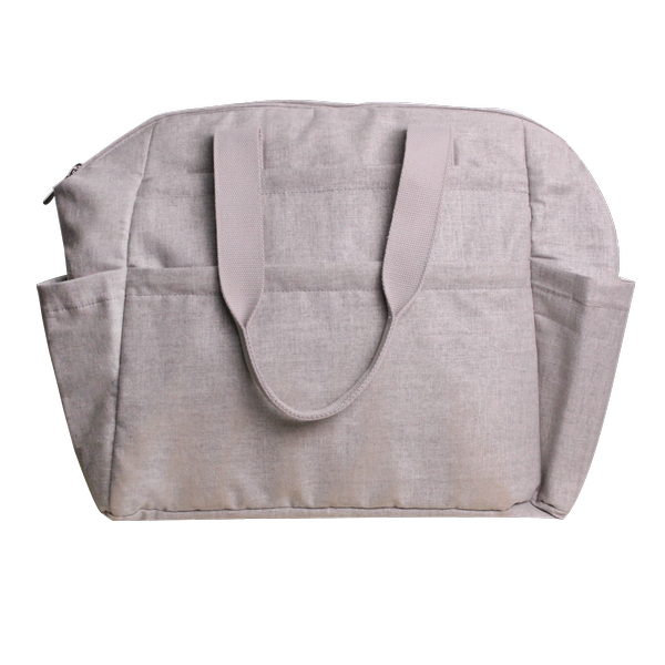 Maya nappy bag - light grey