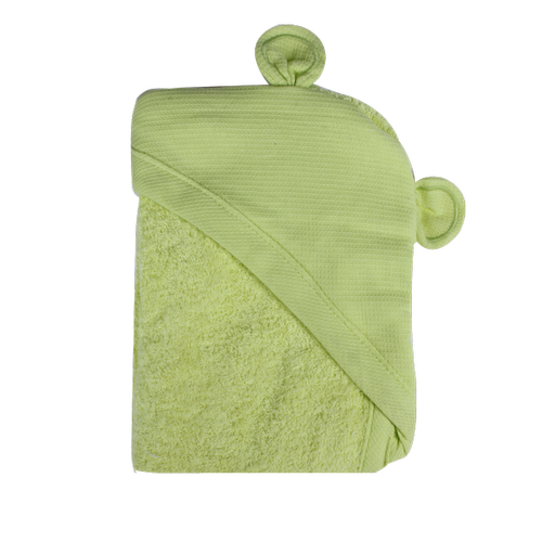 Newborn Animal Hooded Towel - green bear