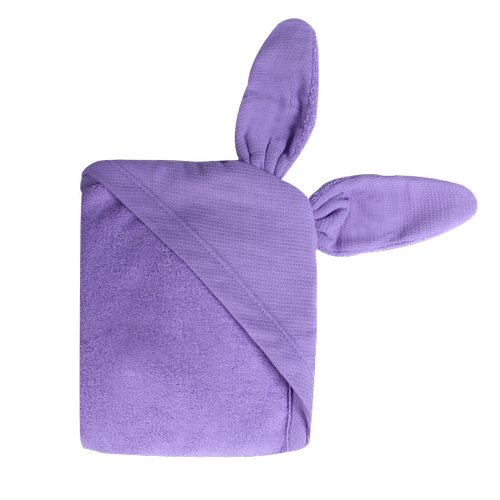 Newborn Animal Hooded Towel - purple bunny