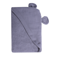 Load image into Gallery viewer, Newborn Animal Hooded Towel - grey bear