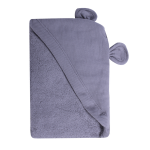 Newborn Animal Hooded Towel - grey bear