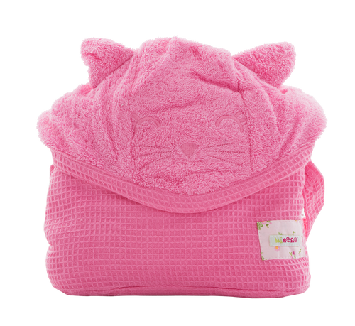 Cuddly Towel - pink-cat