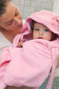 Cuddly Towel - baby pink dog