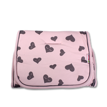 Load image into Gallery viewer, Reversible Pram Liner - pink hearts