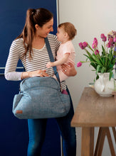 Load image into Gallery viewer, Nicki nappy bag - dark grey denim