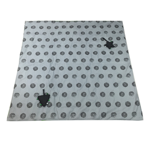 Portable Activity Mat - green with grey dots