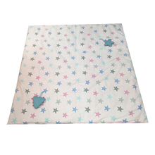 Load image into Gallery viewer, Portable Activity Mat - stars on baby pink